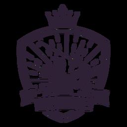 Etiqueta do emblema do clube do jogador de coroa do clube de golfe