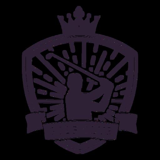 Pegatina de la insignia del club del jugador de la corona del club de golf Transparent PNG