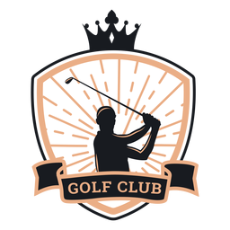 Golf club crown player club logo