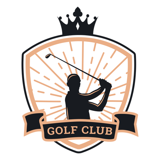 Club de golf corona jugador club logo Transparent PNG