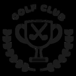 Curso de distintivo de ramo de clube de xícara de golfe