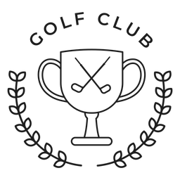 Golf club cup club branch badge stroke