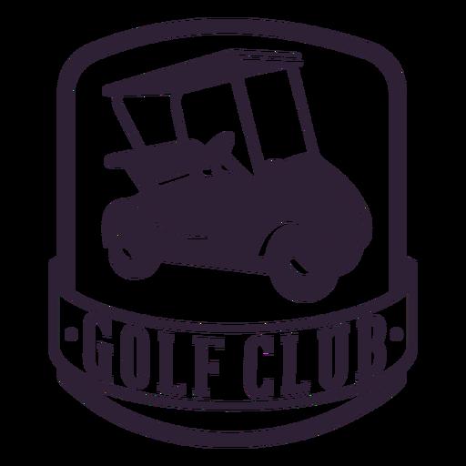 Etiqueta engomada de la insignia de la rueda del carro de golf del club de golf