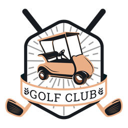 Club de golf carrito de golf volante volante club sucursal logotipo