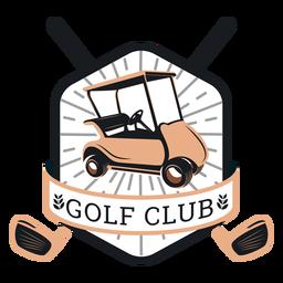 Clube de golfe clube de golfe roda volante clube ramo logotipo
