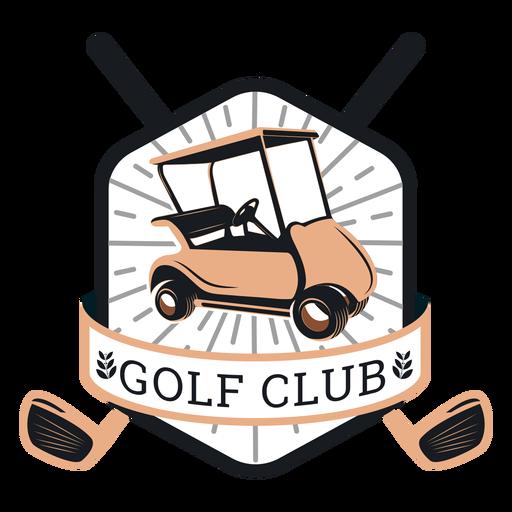 Club de golf carrito de golf volante volante club sucursal logotipo