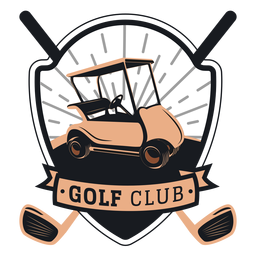 Golf club golf cart wheel steering wheel club logo