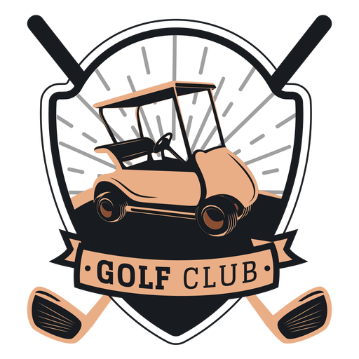 Club de golf golf carrito volante volante club logo Transparent PNG