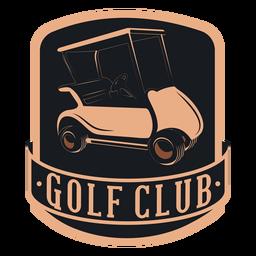 Logotipo del volante del volante del carro de golf del club de golf