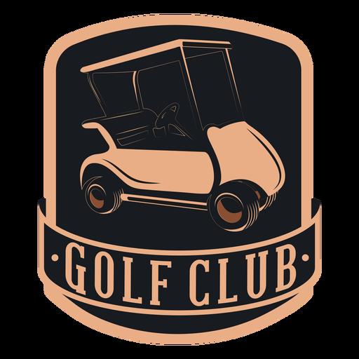 Logotipo de volante de roda de carrinho de golfe de clube de golfe Transparent PNG