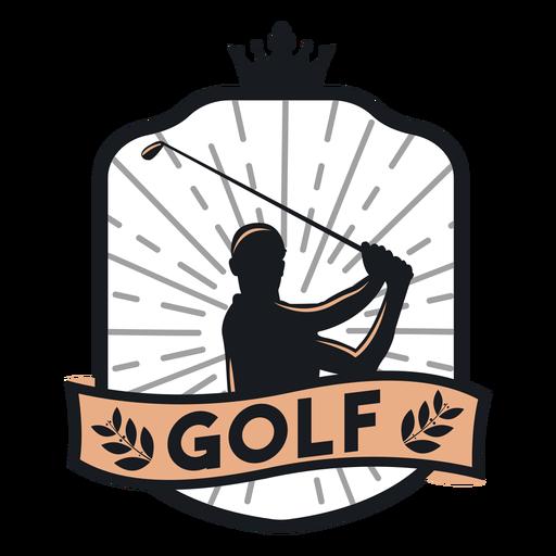 Club de golf jugador club rama logotipo de la corona Transparent PNG