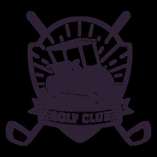 Pegatina de la insignia del club del carro de golf de la rueda del club de golf Transparent PNG