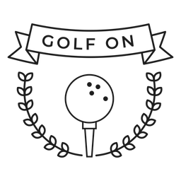 Golf on ball branch badge stroke