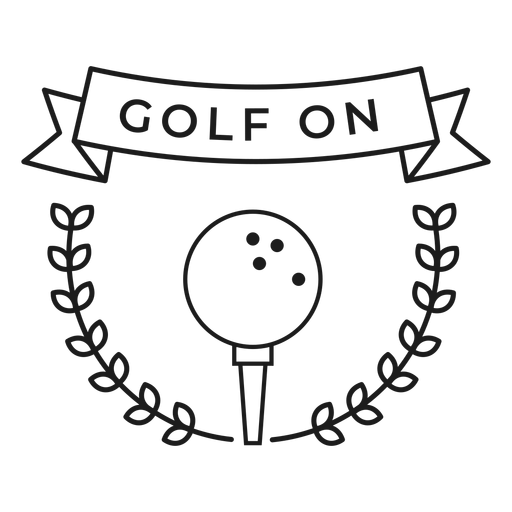 Golf on ball branch badge stroke Transparent PNG