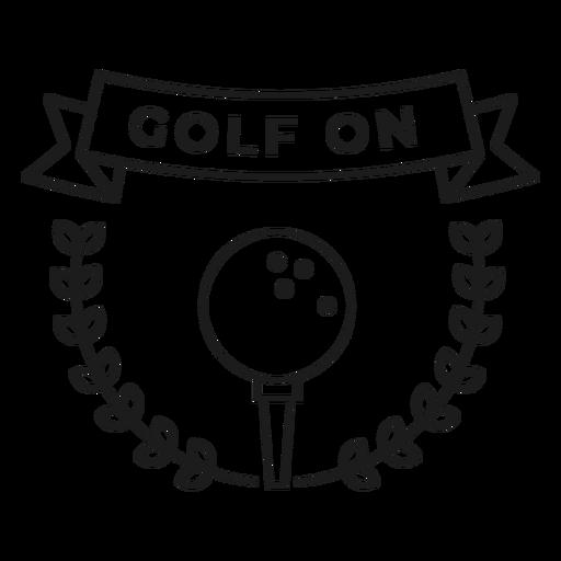 Golpe de golf en la rama de la bola. Transparent PNG