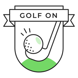 Adesivo de crachá colorido de clube de golfe