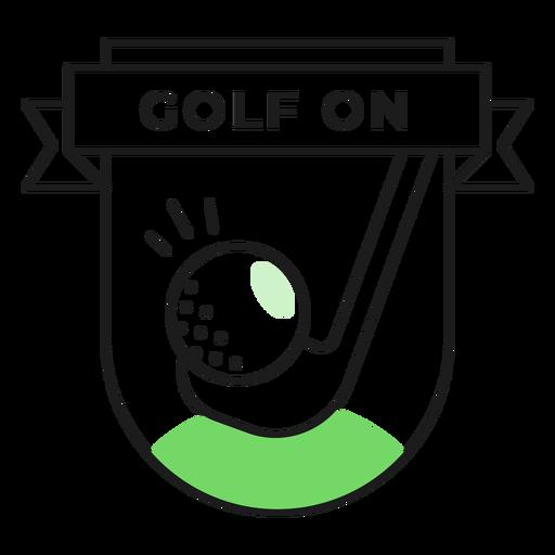 Etiqueta engomada coloreada del golf en club de pelota Transparent PNG