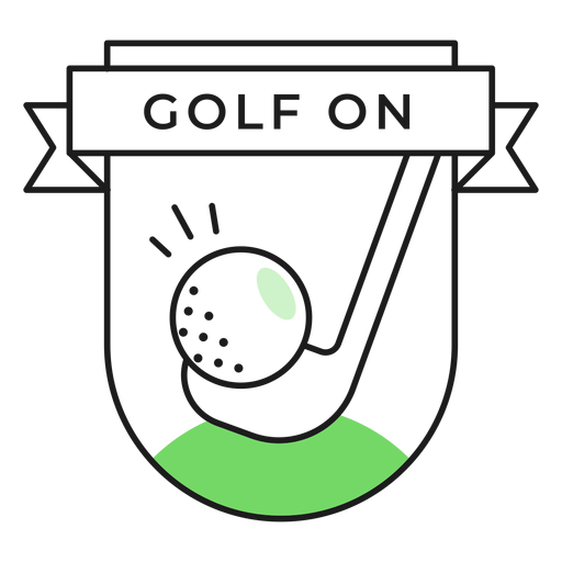 Golf on ball club colored badge sticker Transparent PNG