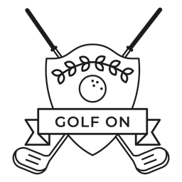 Golf on ball star branch club badge stroke