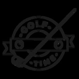 Curso de distintivo de clube de bola de golfe