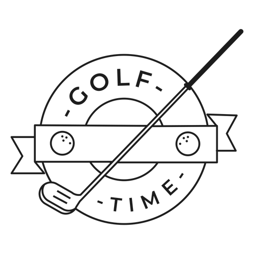 Golf time ball club badge stroke Transparent PNG