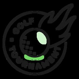 Etiqueta engomada coloreada del fuego de la bola del torneo de golf