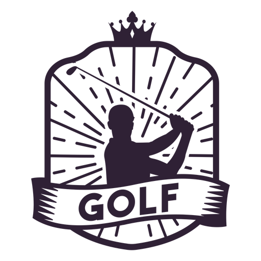 Golf crown club player badge sticker Transparent PNG