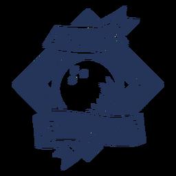 Gegangener Bowlingsbowlingkugel-Rauten-Abzeichenaufkleber
