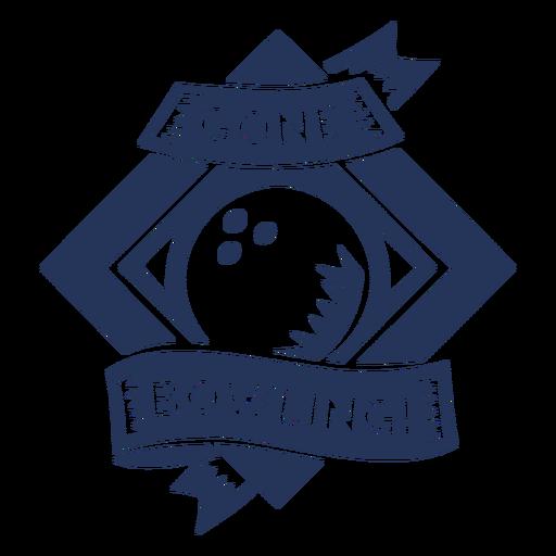 Etiqueta engomada de la insignia del rombo de la bola de bolos desaparecida Transparent PNG
