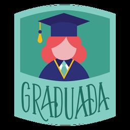Etiqueta engomada académica del casquillo de la persona graduada