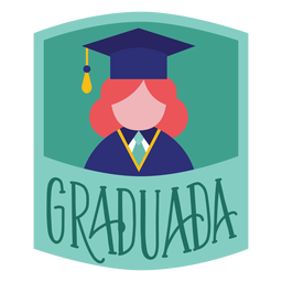 Graduada person academic cap sticker