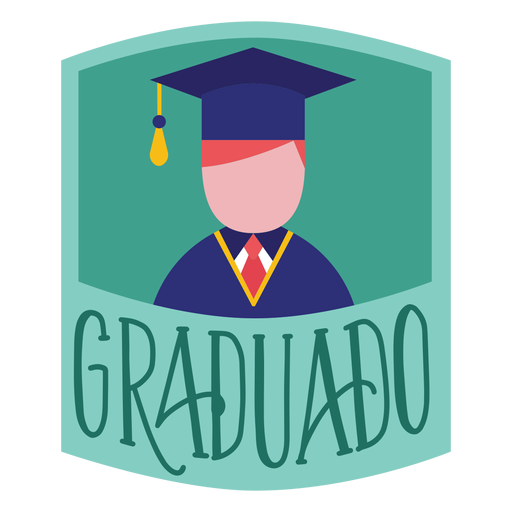 Graduado person academic cap sticker Transparent PNG