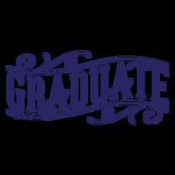 Graduate Curl Aufkleber
