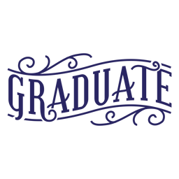 Graduate curl sticker