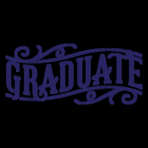 Graduate curl sticker Transparent PNG