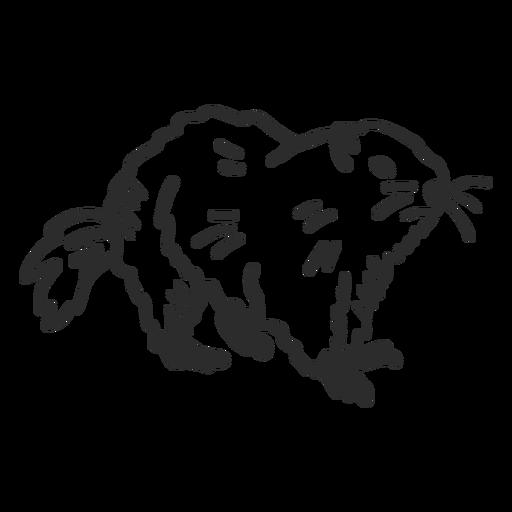 Ground hog marmot muzzle fur doodle Transparent PNG