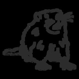 Ground marmot focinho foca pêlo dente doodle