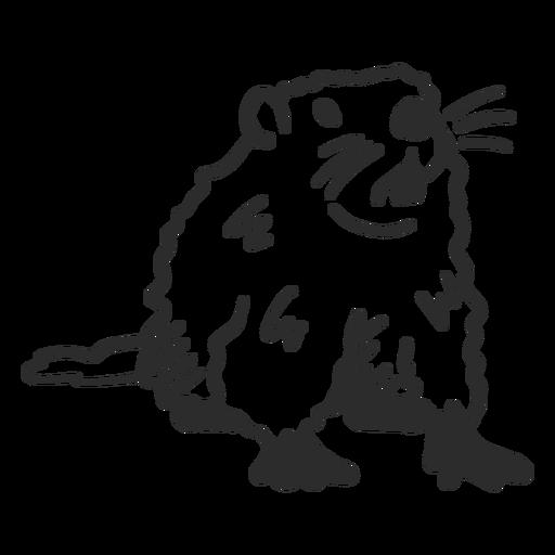 Ground hog marmot muzzle fur tooth doodle Transparent PNG
