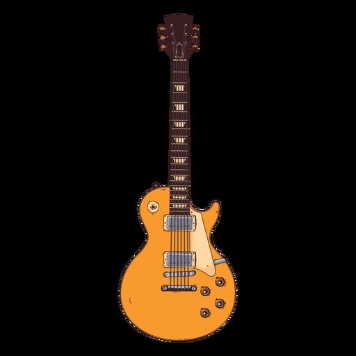 Ejemplo dibujado mano de la cuerda del tablero del dedo del cuello de la guitarra