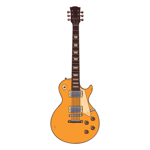 Guitar neck finger board string hand drawn illustration