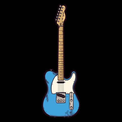 Guitarra cuerda dedo tablero cuello mano dibujada ilustración Transparent PNG