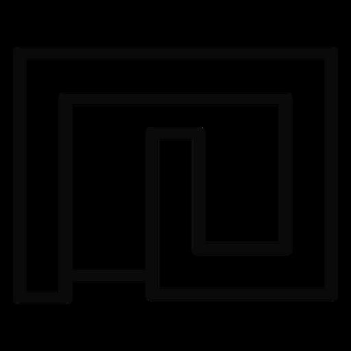 Curso de jarda do labirinto de H Transparent PNG