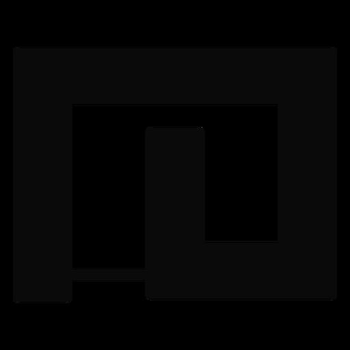 H silhueta detalhada labirinto de quintal Transparent PNG