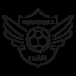 Andebol, bola, bola, asa, emblema, apoplexia