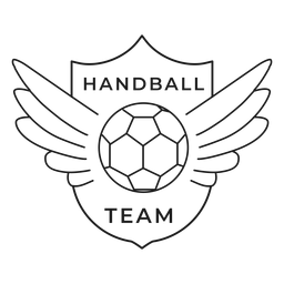 Handball team ball wing badge stroke