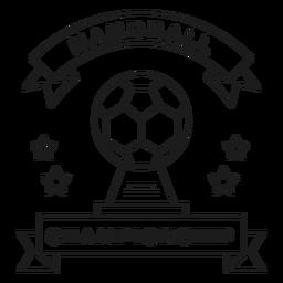 Distintivo de distintivo estrela de bola de campeonato de handebol