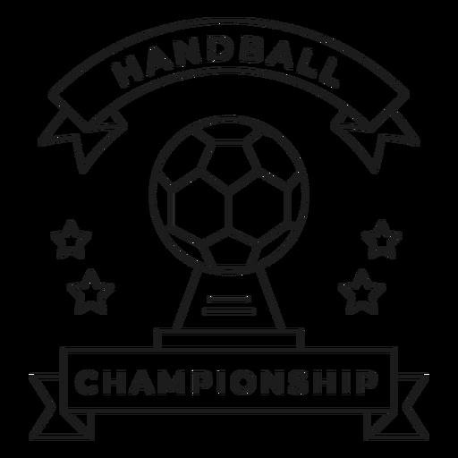 Campeonato de balonmano bola estrella insignia trazo Transparent PNG