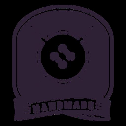Handmade thread needle button badge sticker