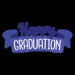 Etiqueta feliz da fita da graduação