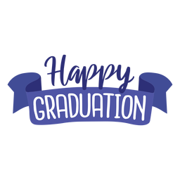 Happy graduation ribbon sticker